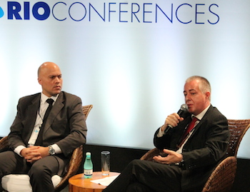 From the left: Marcelo Mafra, ANP, and Carlos Assis, Oil & Gas Partner at EY Consulting.