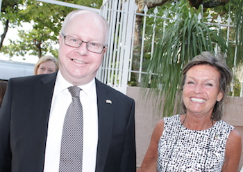 A reception for Mr. Høglund was held at the residence of Consul General Helle Klem (to the right).