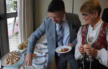 A Norwegian breakfast was served before the seminar.
