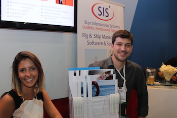 Star Information Systems (SIS) was among the exhibitors at the Norwegian pavilion, where the company met with several clients during the expo. SIS is satisfied with the outcome and will follow-up the contact made with several clients. Here represented by Carolina Montenegro and Flavio Miguel.