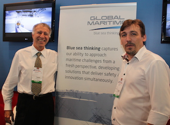 Samuel Barbosa (to the left) and Per S. Kjelby from Global Maritime.