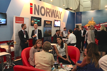 Happy Hour at the Norwegian pavilion on the opening day of Navalshore 2014.
